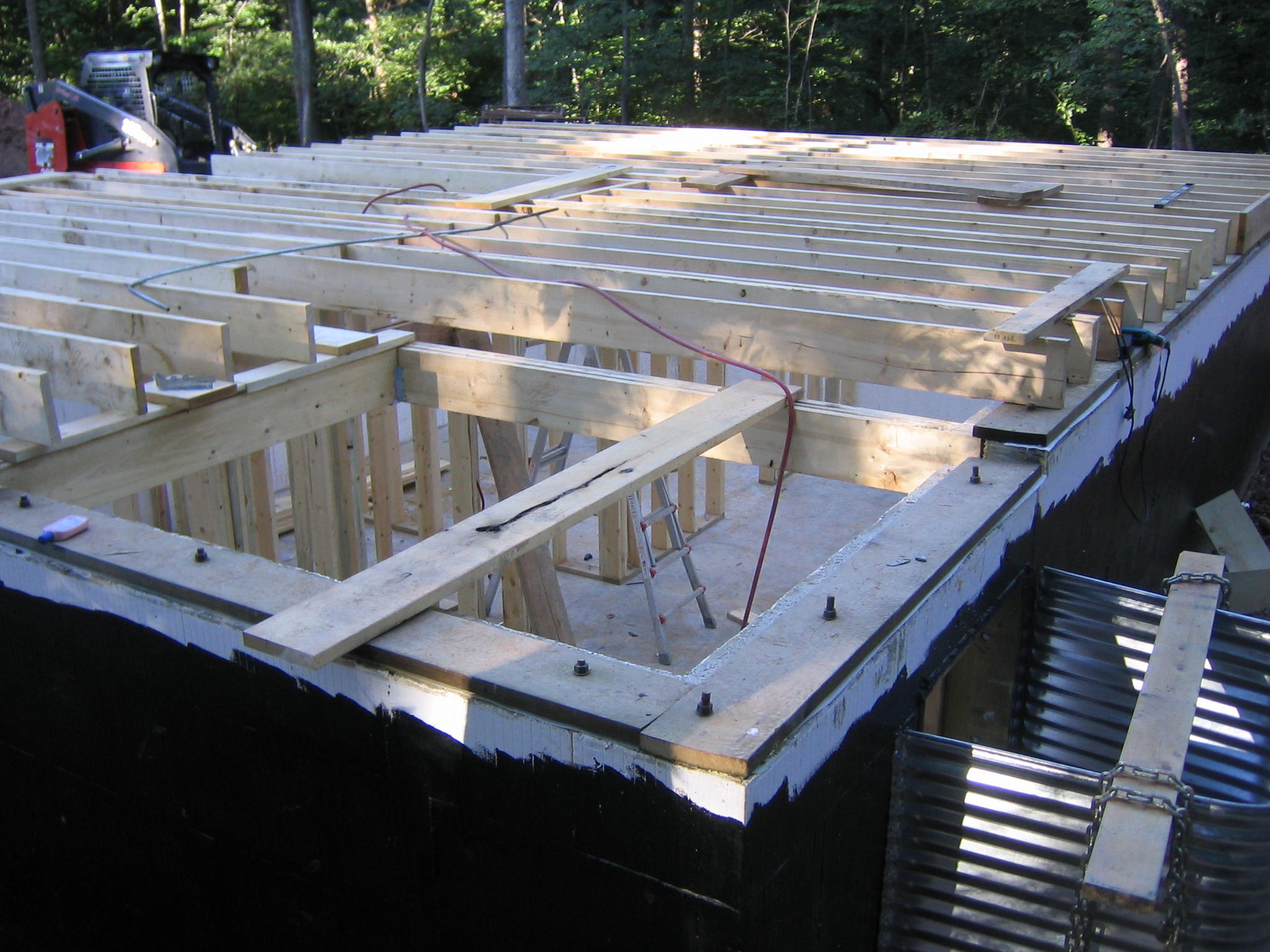 Basement framing for Icf floors